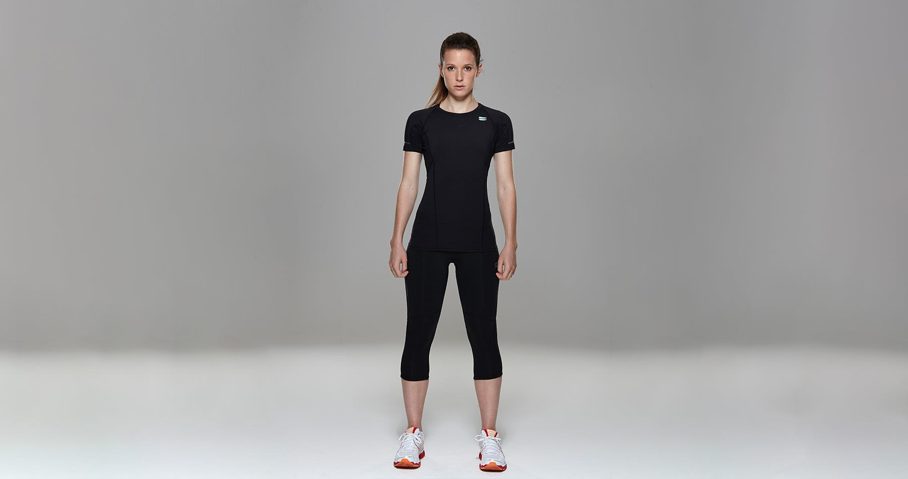 Tribesports Core Women's Short Sleeve Top Black  5