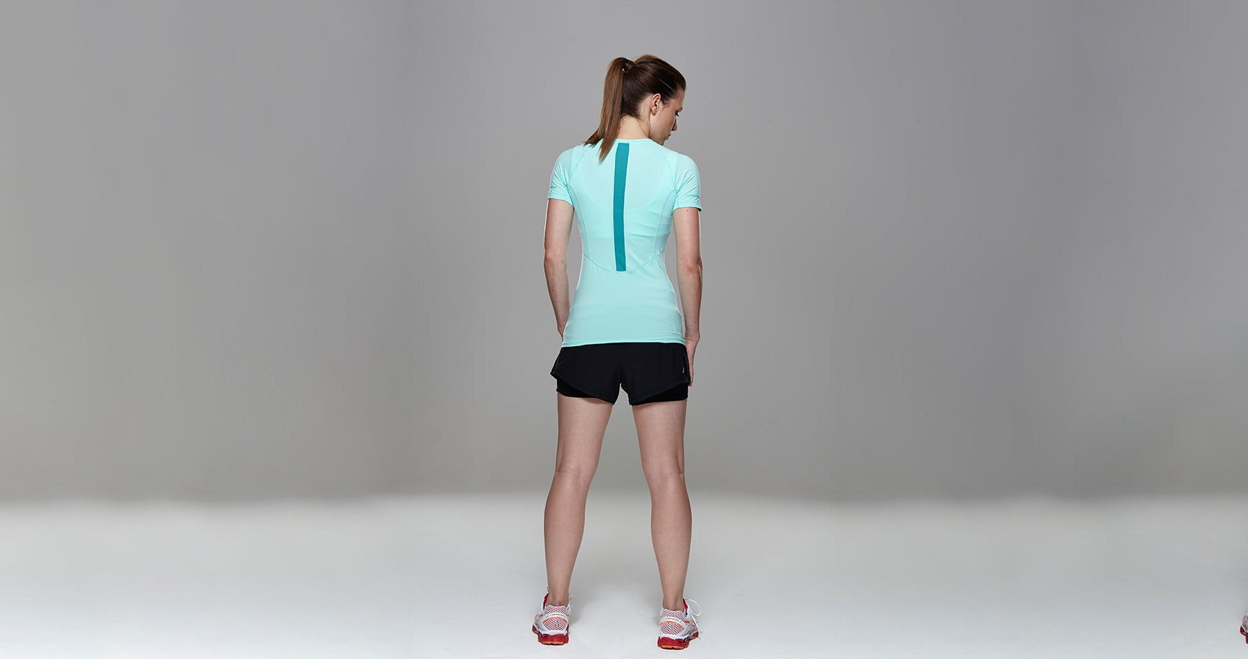 Tribesports Core Women's Short Sleeve Top Turquoise 9