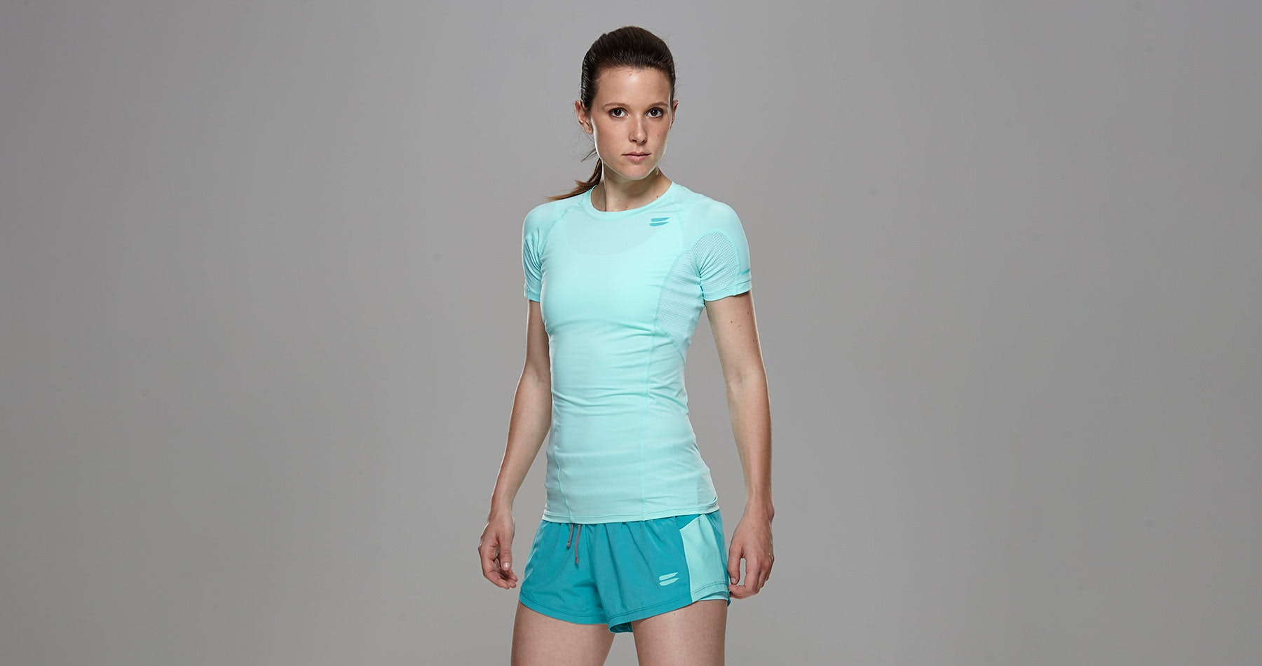 Tribesports Core Women's Short Sleeve Top Turquoise 8
