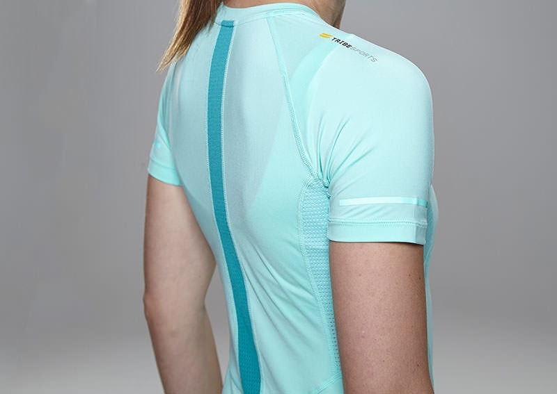 Tribesports Core Women's Short Sleeve Top Turquoise 5