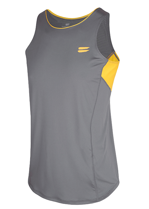 Tribesports Core Running Singlet Charcoal