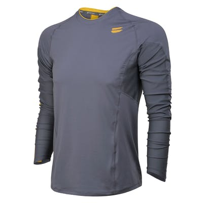 Men's Long Sleeve Running Top - Charcoal , Tribesports - 1