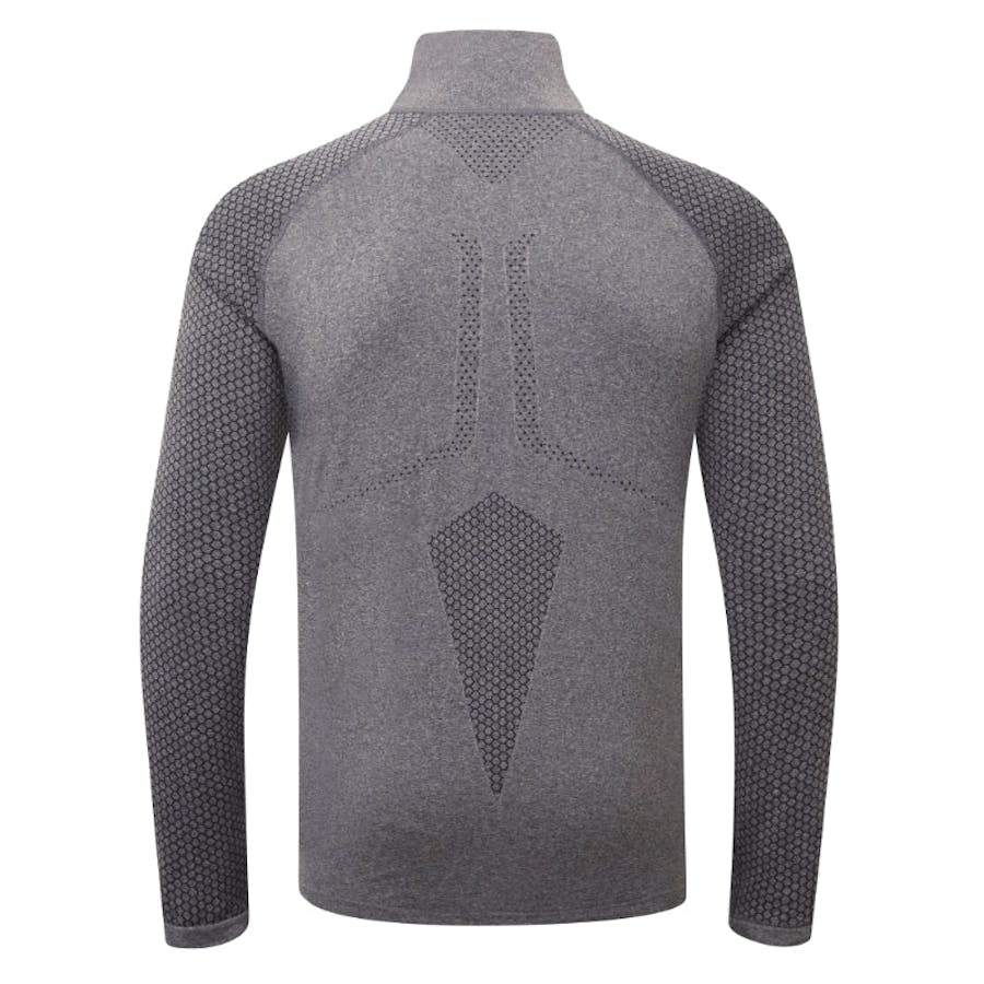 Engineered LS Zip Tee - Charcoal Grey Melange