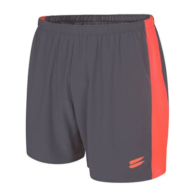 Men's Running Shorts - Charcoal / Fire Red , Tribesports - 1