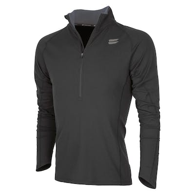 Men's Half-Zip Mid Layer - Black , Tribesports - 1