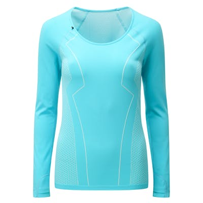 Engineered Long Sleeved Tee - Fresh Aqua