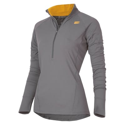 Women's Half-Zip Mid Layer - Charcoal , Tribesports - 1