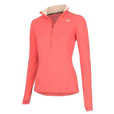 Women's Half-Zip Mid Layer - Coral , Tribesports - 1