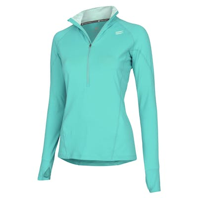 Women's Half-Zip Mid Layer - Turquoise , Tribesports - 1