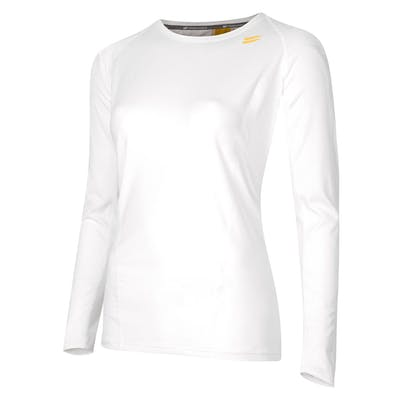 Women's Long Sleeve Running Top - White , Tribesports - 1