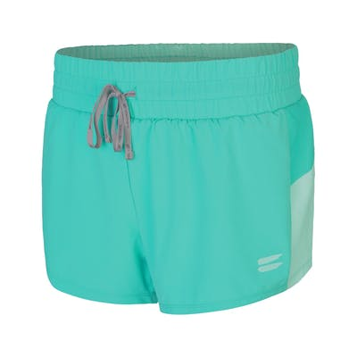 Women's 2 in 1 Running Shorts - Turquoise , Tribesports - 1