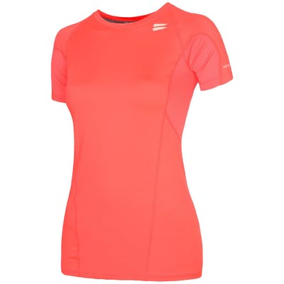 Women's Short Sleeve Running Top - Coral , Tribesports - 1
